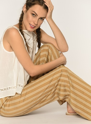Loves You Beli Lastikli Relax Fit Pantolon Camel